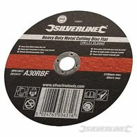 Silverline Heavy Duty Metal Cutting Disc Flat 115 x 3 x 22.2mm 103610 Hand Tools