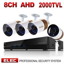 ELEC 8CH 1080N HDMI DVR 2000TVL 720P HD CCTV Video Home Security Camera System