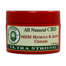 Cannabis Pure CBD All Natural Ultra Strong MSM Muscle & Joint Cream