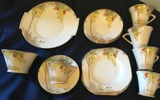 "Crownford Staffordshire Tea/Dessert Set 18 Pcs. Art Deco 1930s ""Laburnum"" Excel."