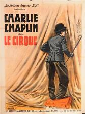 "Original Charlie Chaplin Movie Poster ""Le Cirque (The Circus)"" RARE!"