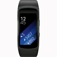 Samsung Gear Fit 2 Fitness Band Large Black with Notifications, GPS, Bluetooth