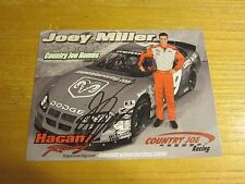 Joey Miller Driver Autographed Signed 6X8 Photo NASCAR Racing