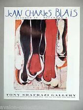 Jean Charles Blais Art Gallery Exhibit PRINT AD - 1994 ~~ De La Tete Aux Pieds