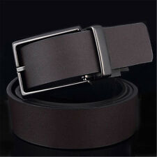 Men Genuine Leather Belt Pin Buckle Waist Strap Belts WaistBand 2 Side Usable