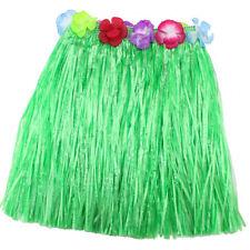 Ladies Women Hawaii Fancy Dress Grass Skirt Hula Hawaiian Full Charming ft