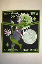 OA WAPASHUWI 56 2-PATCH GRN LYNX GREEN LANTERN DC COMIC 100TH ANN 2015 NOAC FLAP