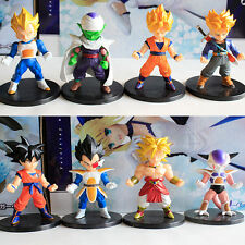 Dragon Ball Z 8pc set mini PVC Figures toy doll gift Gokou Vegeta black base