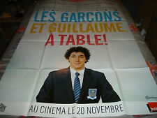 AFFICHE  GALLIENNE / LES GARCONS ET GUILLAUME A TABLE