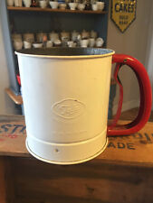 Vintage Tala Red & White Rotary Flour Sifter / Dispenser – Kitchenalia!