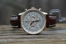 Breitling Navitimer Montbrillant 18K Rose Gold with Deployment H41330 38mm