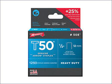 "Arrow T50 1/2"" 12mm Staples (Fits Stanley Staple Guns)"