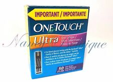 CLEARANCE NEW One Touch Ultra Diabetic Glucose 50 Test Strips Blue Exp 02/2018