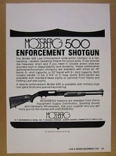 1976 Mossberg Model 500 Law Enforcement Police Shotgun vintage print Ad