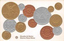 Foreign Numismatics Coin Collecting POSTCARD c1910 Monedas de MEXICO 4