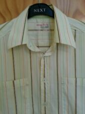 """JACK & JONES AT HOUSE OF FRASER YELLOW COTTON  SHORT SLEEVE SHIRT SIZE SMALL 36"""""""