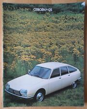 CITROEN GS range 1978 1979 UK Mkt sales brochure
