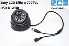 "Security 1/3"" Sony Effio CCD 700TVL Lens 3.6mm IR 20m OSD Menu CCTV Dome Camera"