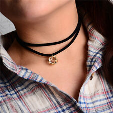 1 Pc Dual-layer Velvet Choker Pendant Collar Necklace Fashion Women Jewelry