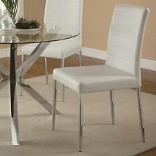 Vance Contemporary White Vinyl Dining Side Chair by Coaster 120767WHT - Set of 4