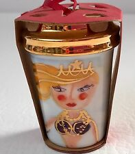 STARBUCKS Siren Mermaid CHRISTMAS ORNAMENT Collector Series To Go Cup 2015 New