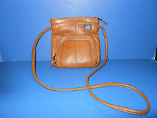 Tignanello Camel Colored Pebble Leather Small Cross Body Purse/Bag