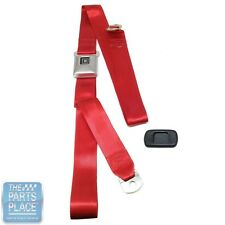 1968-72 GM A Body New Deluxe Red Shoulder Belt W/ Stainless Buckle - Set
