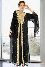 DUBAI VERY FANCY KAFTANS / abaya jalabiya Ladies Maxi Dress Wedding gown earing.