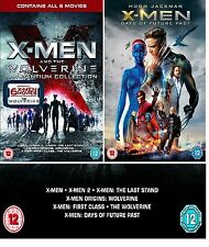 X MEN WOLVERINE COMPLETE All 7 Movie Film Collection Blu Ray set Original New UK