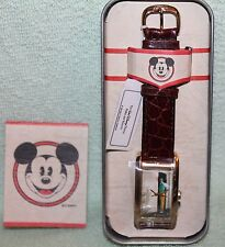 NEW IN TIN RARE DISNEY MICKEY MOUSE & WALT DISNEY  QUARTZ WATCH  LIMITED EDITION
