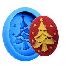 Christmas Tree with Stars Blue Silicone Mold for Fondant, GP, Chocolate, Crafts