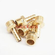 "LOT 5 Hose Barb I/D 6mm x 1/4"" BSP Male Brass coupler Splicer Pipe fitting"