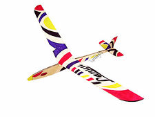 Lanyu Hand Launch Balsa Wood Glider Plane DIY Build&Paint Model Kit, US 8006