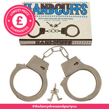 Metal Handcuffs Adult Hen Stag Party Sexy Fancy Dress Role Play Policeman Fun