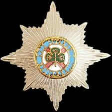 IRISH GUARDS BRITISH ARMY OFFICER ENAMELED CAP HAT BADGE                     -01