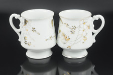 GARDNER Antique 19th C Moscow Russian Cups Porcelain Tea Cup Gold (lot of 2)