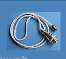 Large Brass & Cream Pull, Cord & Connector Set Bathroom Ceiling Switch 1.2mtr