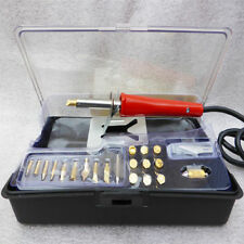 NEW Wood Burning 21 Piece Soldering Tool Set Pyrography Kit Brass with Tips