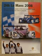 2008 Porsche RS Spyder Le Mans Victory Showroom Advertising Poster RARE Awesome