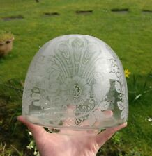 Late Victorian Acid Etched Oil Lamp Shade circa 1880