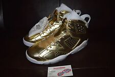 Air Jordan 6 VI Retro Pinnacle Gold Metallic Sz 10 854271-730