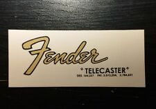 60's style (late) Fender Telecaster Headstock Waterslide Decal