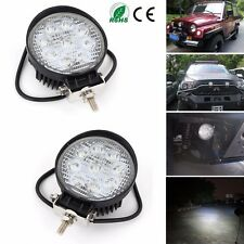 2x 27W Cree LED Work Light Flood Lamp Tractor Truck SUV UTV ATV Offroad 12V 24V