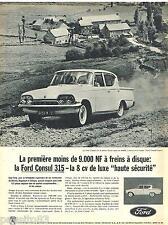 PUBLICITE ADVERTISING 095  1961  FORD  la CONSUL 315