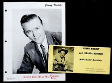 Vintage COWBOY JIMMY WAKELY Publicity Photo & SHASTA RECORDS Catalog / Country