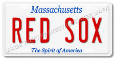 Massachusetts Boston Red Sox MLB Baseball Aluminum Vanity License Plate Tag New