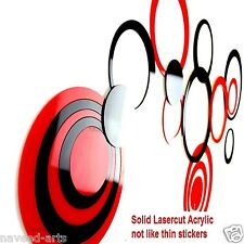Acrylic wall stickers Circle small- Red & Black - 20+6 (Free) Pieces - JB019S4BR