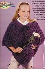 WARM Girl's Crochet on the Double Poncho/Crochet Pattern Instructions