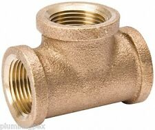 "1"" x 1"" x 1/2"" Brass Tee Reducing Fitting Plumbing"