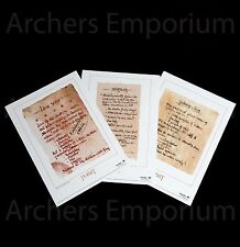 Recipes from Bag End, Prop Replica Print. Hobbit, LotR. Weta Collectables. New